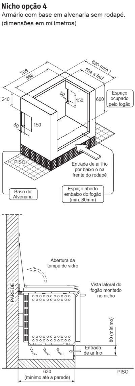 Fogão Electrolux - 56EAB - instalando o produto 5