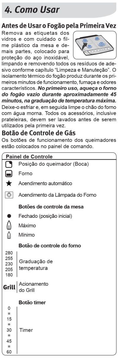 Fogão Electrolux - 76TXE- usando produto 1