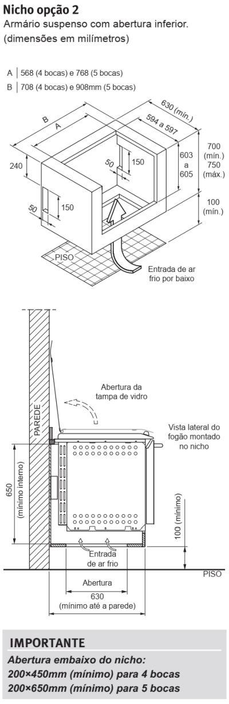 Fogão Electrolux - 76TXE - instalando o produto 3