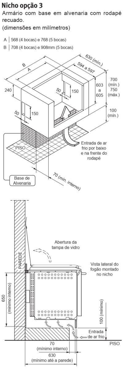 Fogão Electrolux - 76TXE - instalando o produto 4