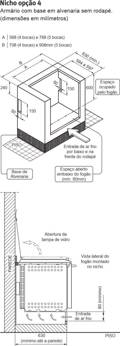 Fogão Electrolux - 76TXE - instalando o produto 5
