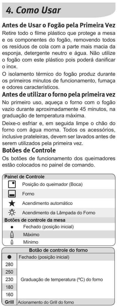 Fogão Electrolux - 76EXR - usando produto 1