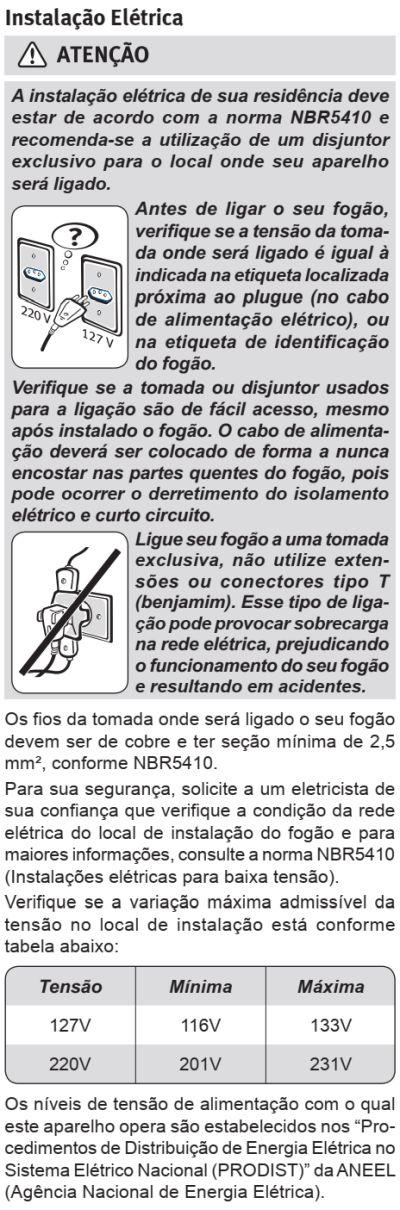 Fogão Electrolux - 76dxv - instalando o produto 3