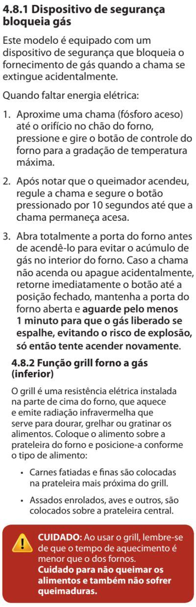 Fogão Electrolux - 76dvx - como usar 14