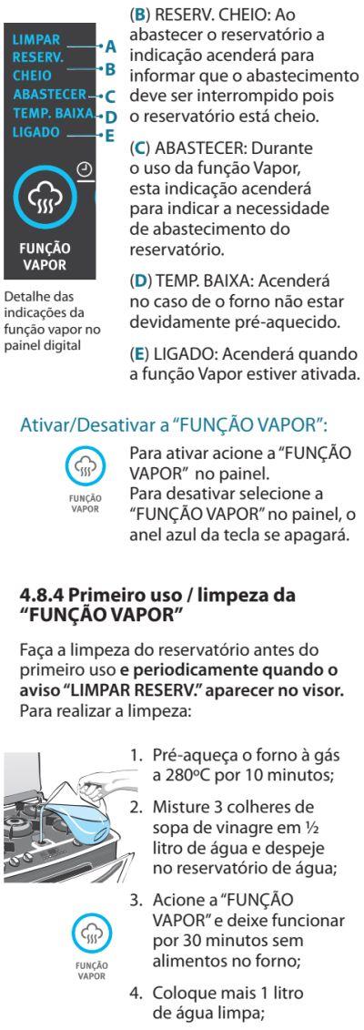 Fogão Electrolux - 76dvx - como usar 17