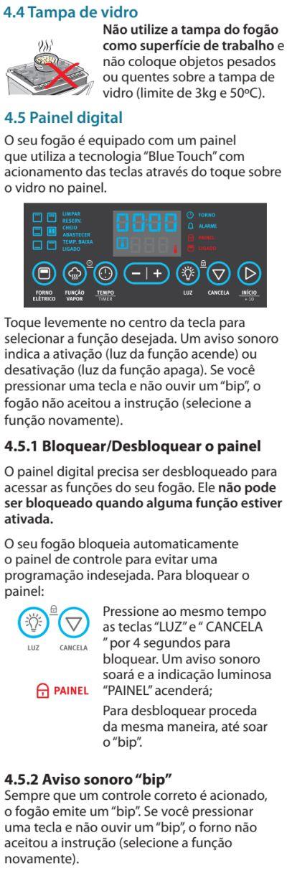 Fogão Electrolux - 76dvx - como usar 3