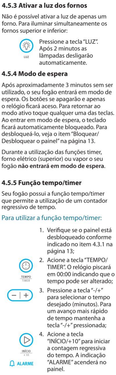 Fogão Electrolux - 76dvx - como usar 4