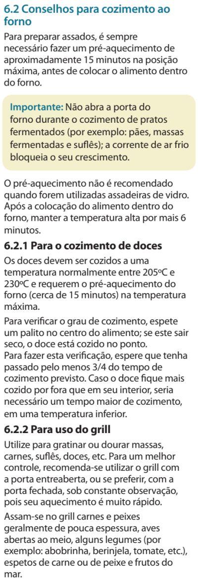 Fogão Electrolux - 76dvx - dicas 2