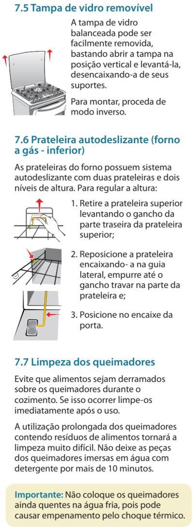 Fogão Electrolux - 76dvx - limpando produto 5