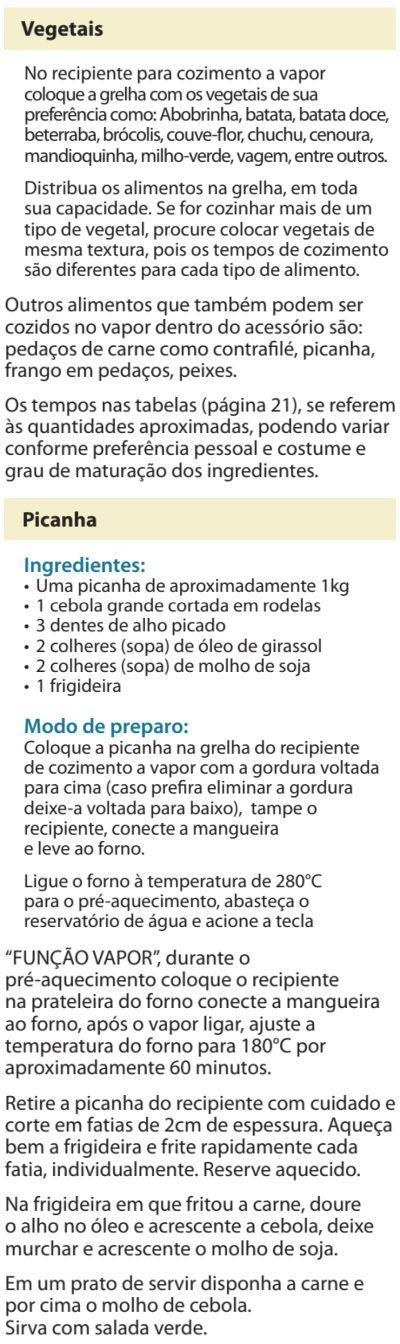 Fogão Electrolux - 76dvx - receitas 4