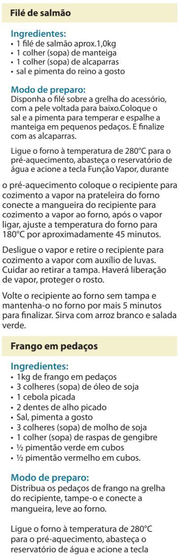 Fogão Electrolux - 76dvx - receitas 5