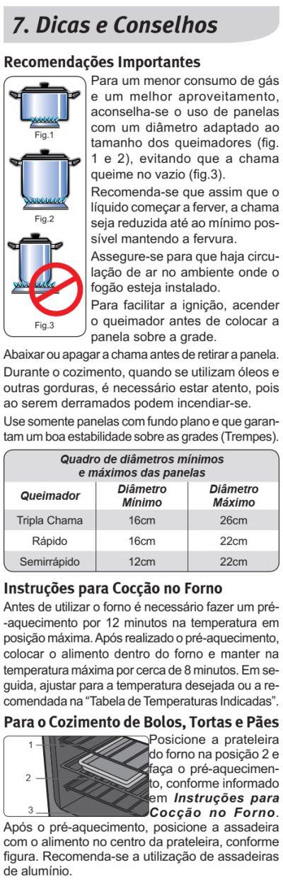 Fogão Electrolux - 76dxr - dicas 1