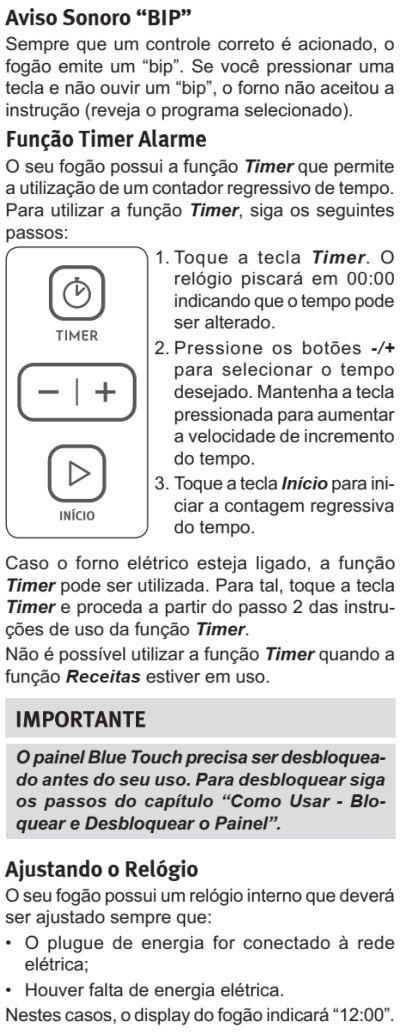 Fogão Electrolux - 76dxv - como usar 1-1