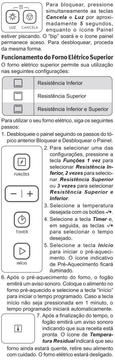 Fogão Electrolux - 76dxv - como usar 6