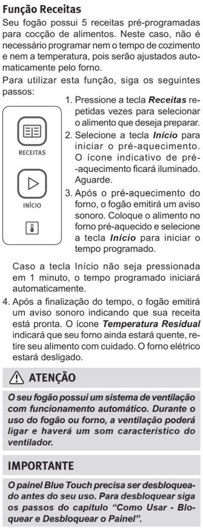 Fogão Electrolux - 76dxv - como usar 9