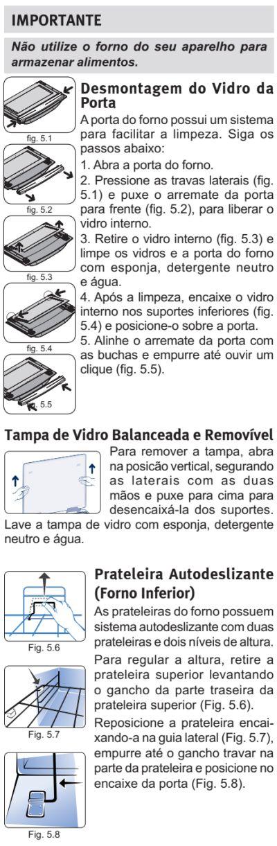 Fogão Electrolux - 76dxv - limpando produto 3