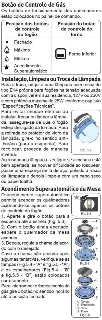 Fogão Electrolux - 76EIX - usando produto 2