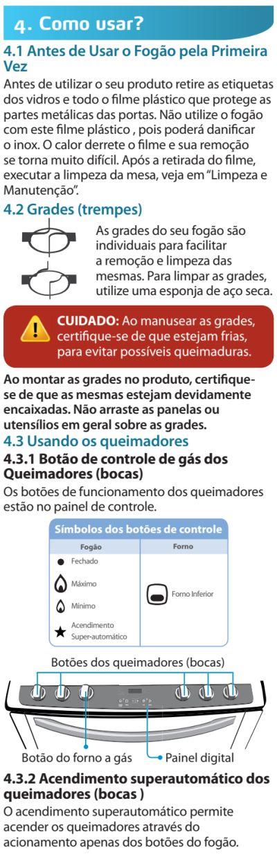 Fogão Electrolux - 76evx - usando produto 1