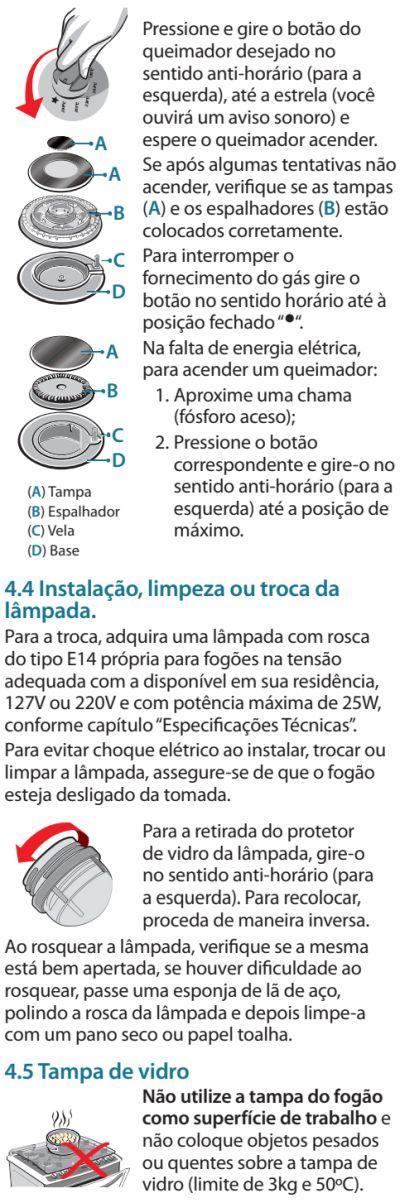 Fogão Electrolux - 76evx - usando produto 2