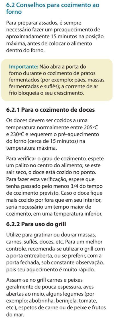 Fogão Electrolux - 76evx - dicas 2