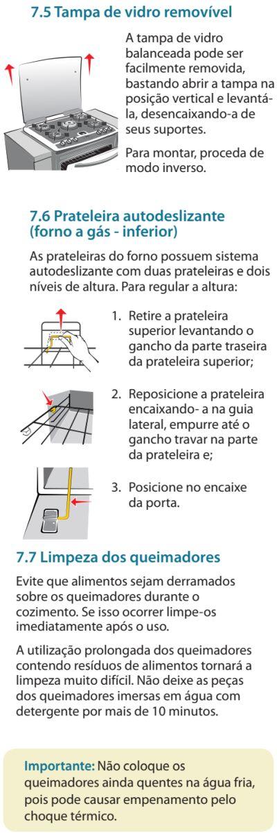 Fogão Electrolux - 76evx - limpando produto 5
