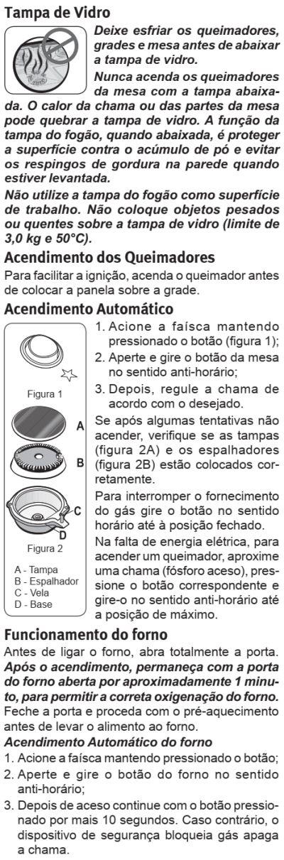 Fogão Electrolux - 76sab - como usar 2