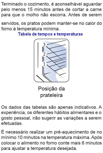 Fogão Electrolux - 56DTB - dicas 3
