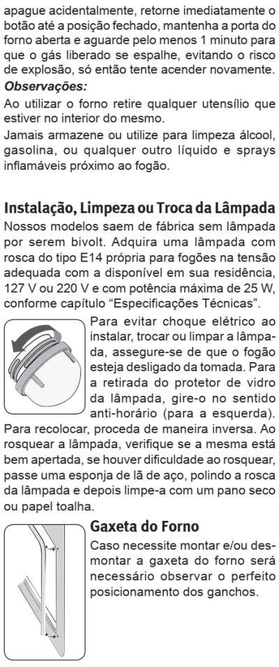 Fogão Electrolux - 76usv - como usar 3