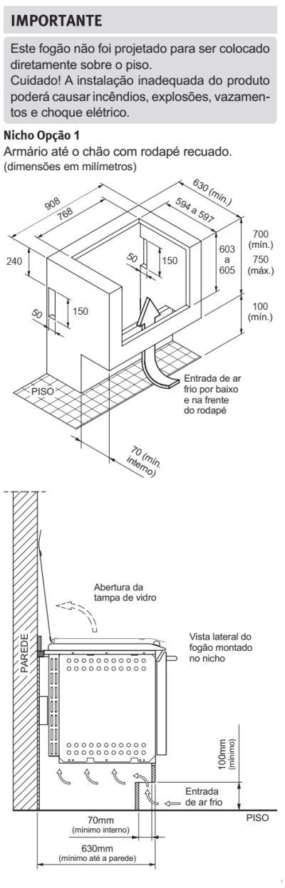 Fogão Electrolux - 76EXR - instalando o produto 2