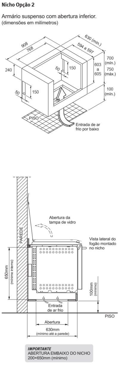 Fogão Electrolux - 76EXR - instalando o produto 3