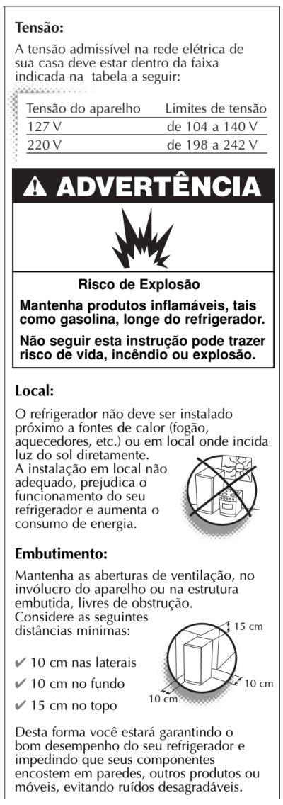 Geladeira Consul CRC30 - instalação da geladeira 3