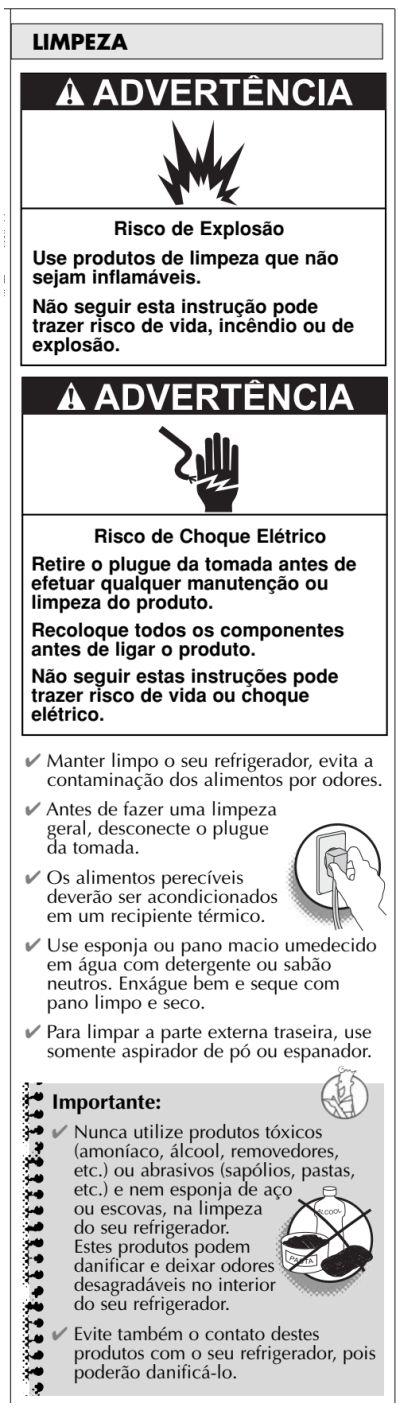 Geladeira Consul CRC30 - limpando a geladeira 2