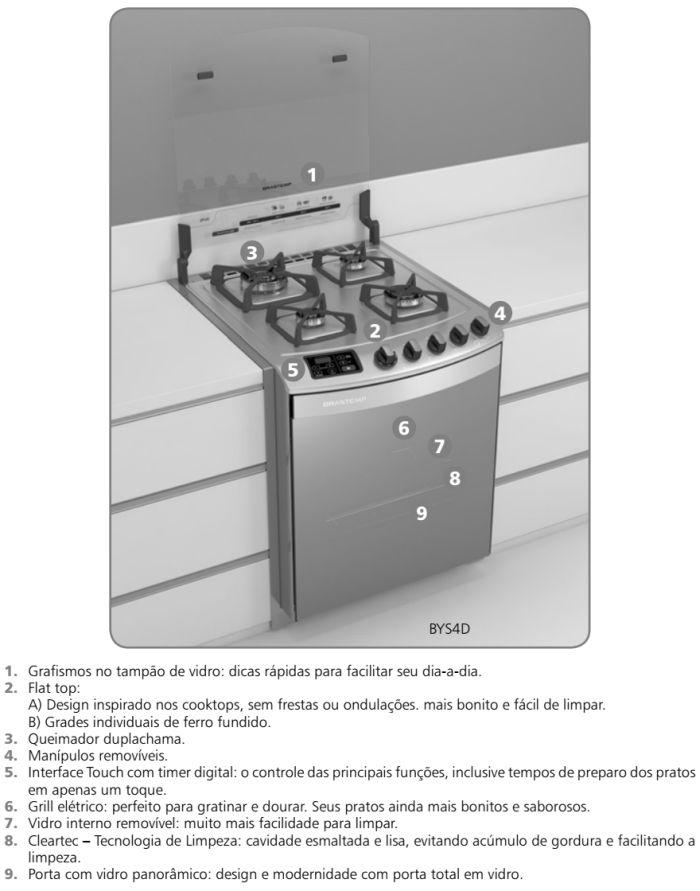 Fogão Brastemp Ative - BFS4DAR - conhecendo produto 1
