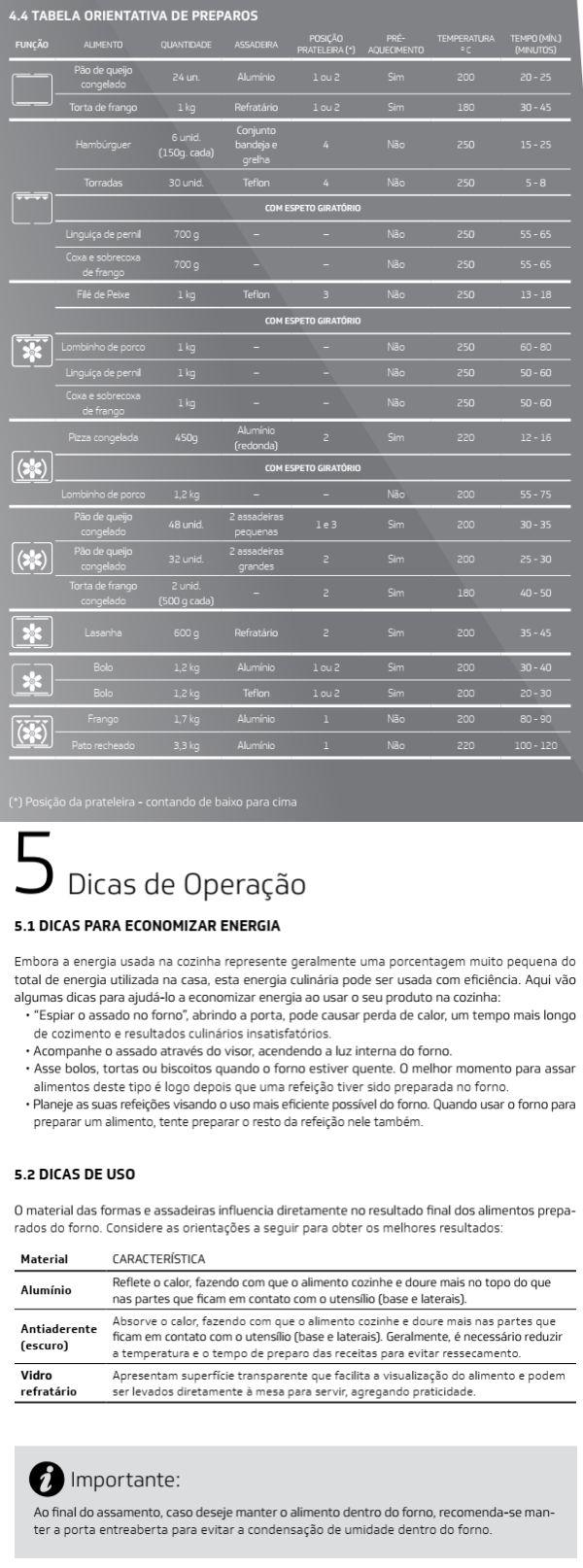 Forno elétrico Brastemp BOC90 - usando produto 6