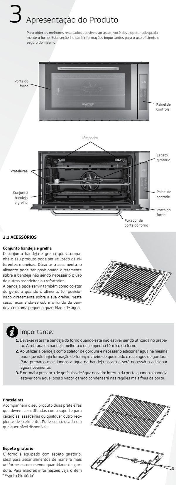 Forno elétrico Brastemp BOC90 - conhecendo produto 1