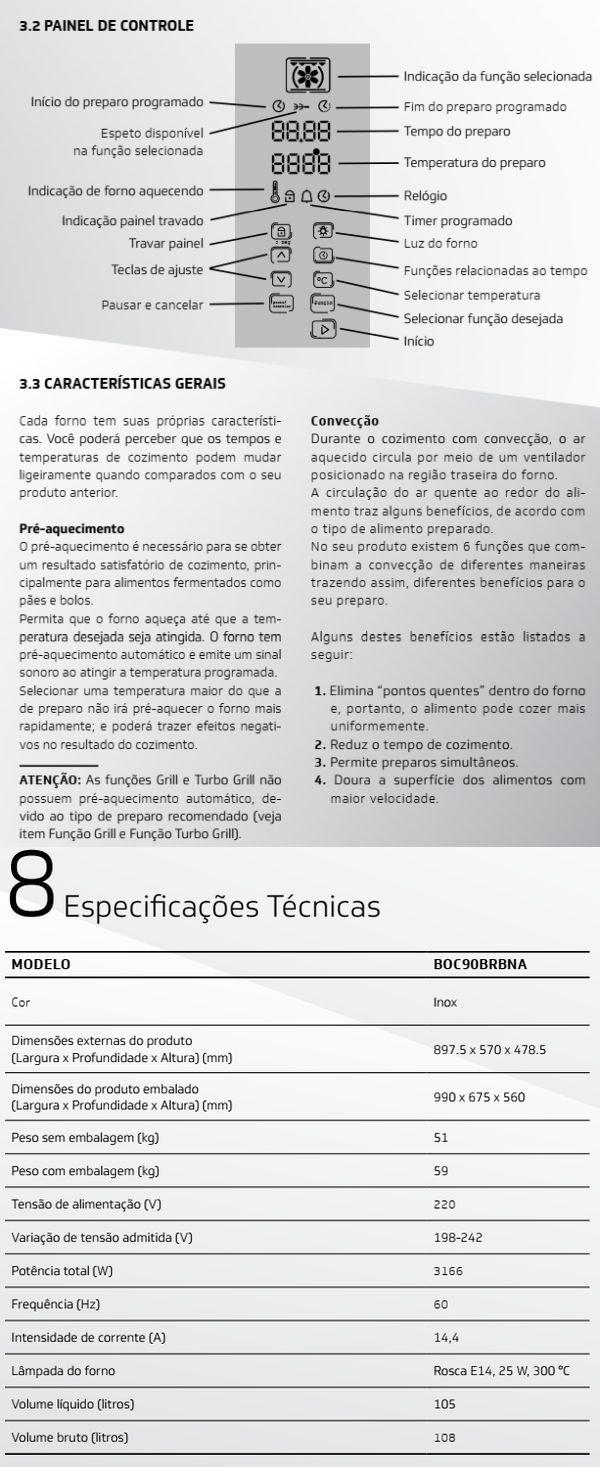 Forno elétrico Brastemp BOC90 - conhecendo produto 2