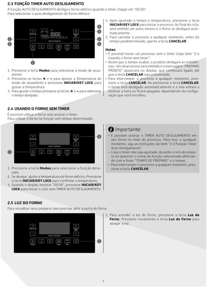 Fogão Brastemp bfs5ccr - como usar painel fulltouch - 2