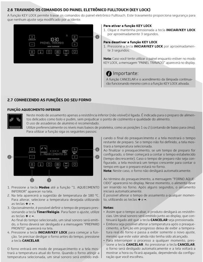 Fogão Brastemp bfs5ccr - como usar painel fulltouch - 3