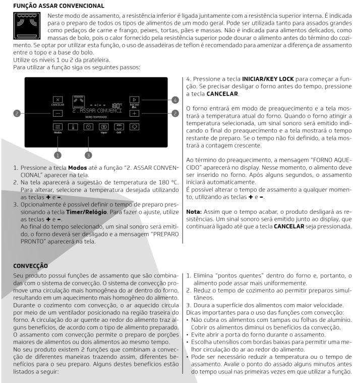 Fogão Brastemp bfs5ccr - como usar painel fulltouch - 4