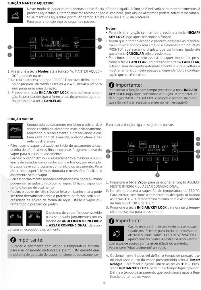 Fogão Brastemp bfs5ccr - como usar painel fulltouch - 6
