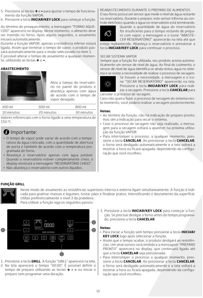 Fogão Brastemp bfs5ccr - como usar painel fulltouch - 7