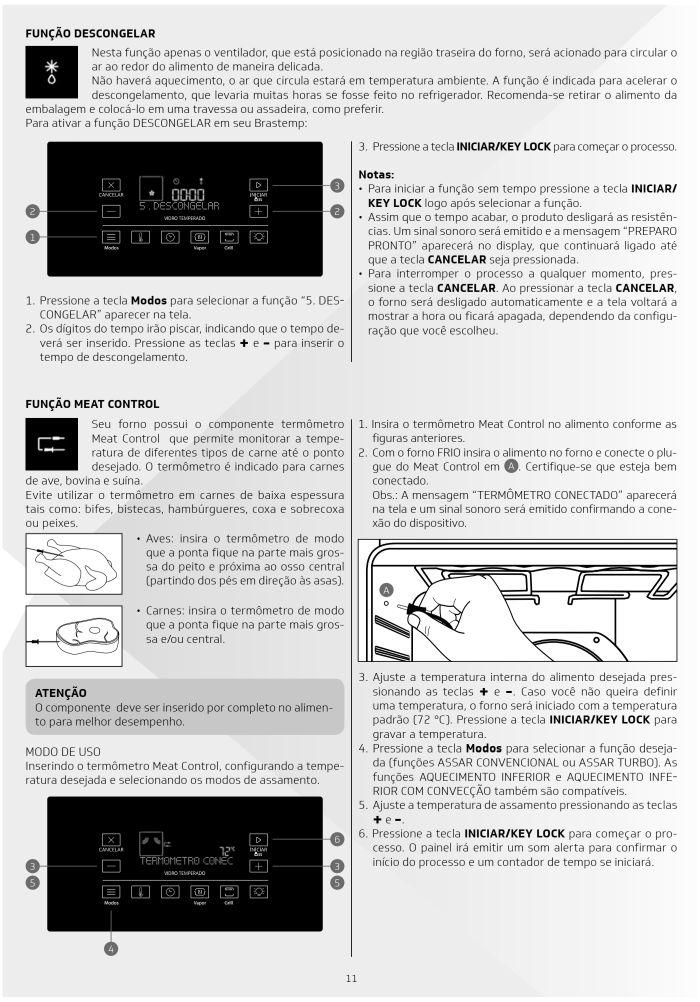 Fogão Brastemp bfs5ccr - como usar painel fulltouch - 8