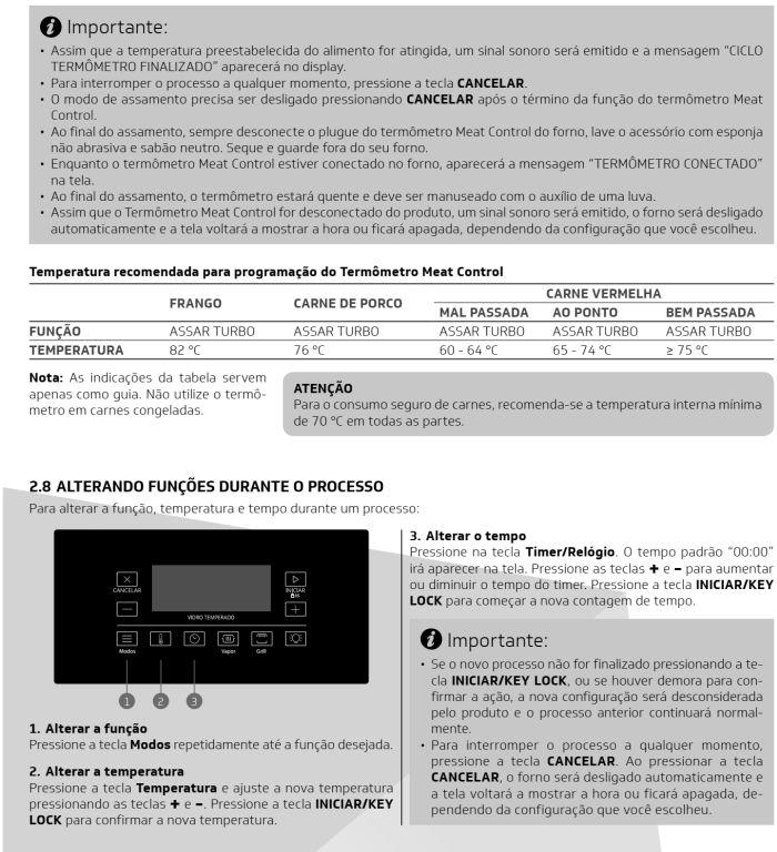 Fogão Brastemp bfs5ccr - como usar painel fulltouch - 9
