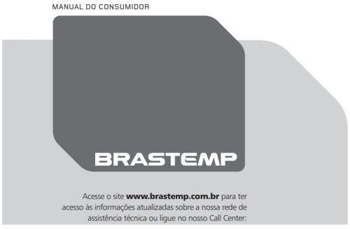 Cooktop a gás Brastemp - capa manual