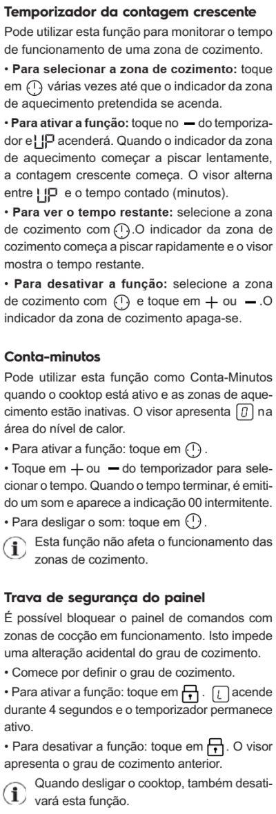 Cooktop de indução Electrolux - ie8fb - usando cooktop de indução 10