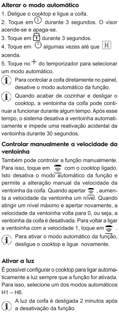 Cooktop de indução Electrolux - ie8fb - usando cooktop de indução 14