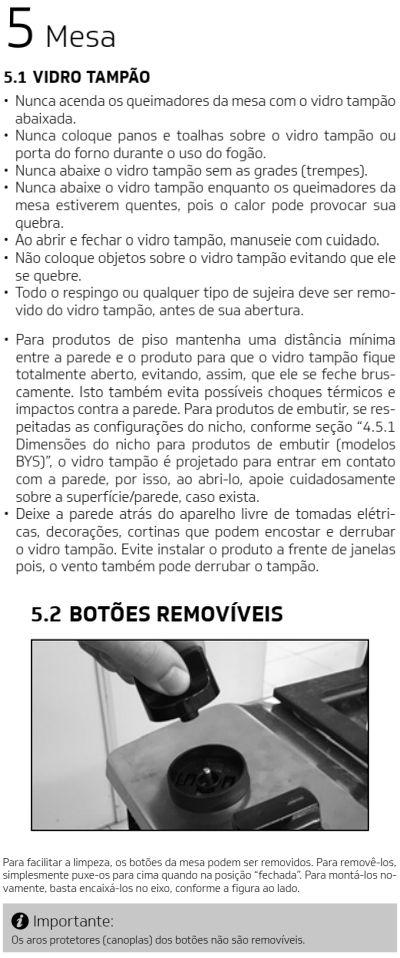 Fogão Brastemp id3 - como usar mesa 1