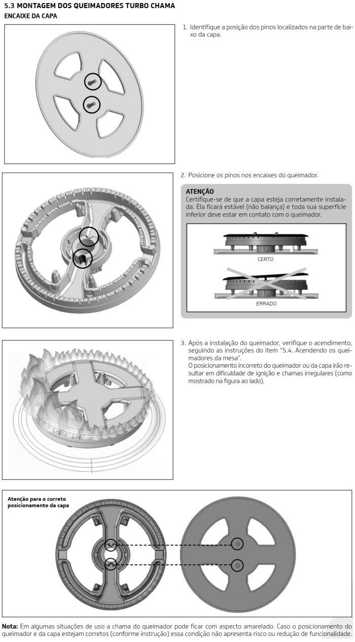 Fogão Brastemp id3 - como usar mesa 2