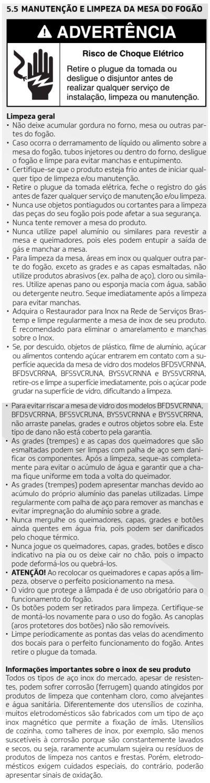 Fogão Brastemp id3 - como usar mesa 4