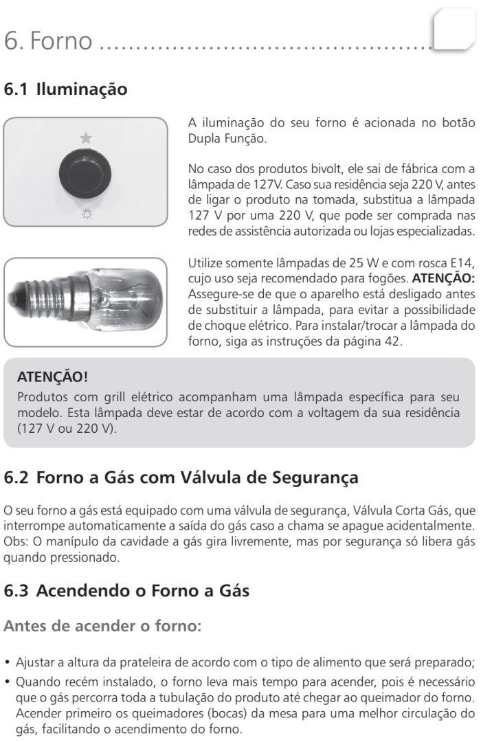 Fogão Brastemp id5 - como usar forno 1